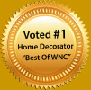 Best of WNC home decorator award logo