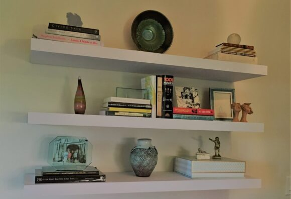 Floating Shelves <br />Minimize an Office Wall
